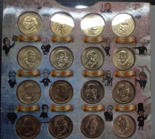 Набор Президенты США - 1 Доллар $ 39 Монет в Альбоме