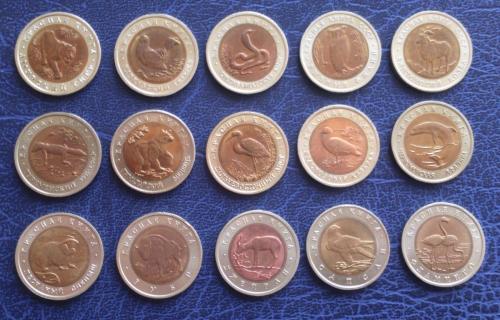 Красная книга полный набор монет