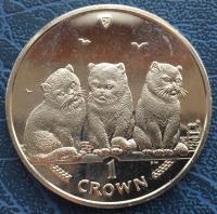 1 крона 2006 года Домашняя  Кошка (Остров Мэн)