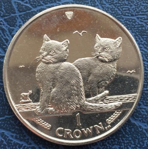 1 крона 2003 года Балийская Кошка ( Остров Мэн)