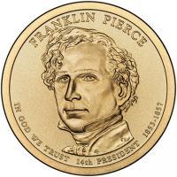 США 1 Доллар 2010 Франклин Пирс 14-й Президент