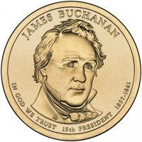 США 1 Доллар 2010 Джеймс Бьюкенен 15-й Президент