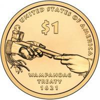 1 доллар сша сакагавея трубка мира