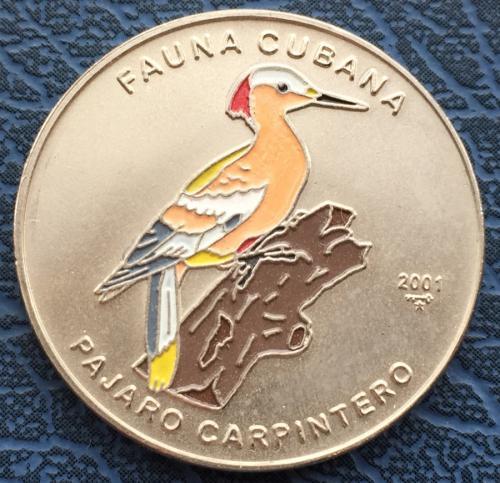 Куба 1 Песо 2001 Дятел