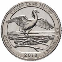 США 25 центов (квотер) 2018 Джорджия Камберлэнд (44-й парк)