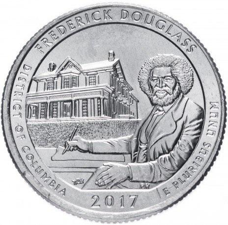 США 25 центов (квотер) 2017 Округ Колумбия Дом Дугласа (37-й парк)