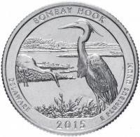 25 центов квотер 2015 Делавер