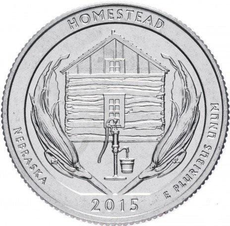 25 центов квотер 2015 США Небраска