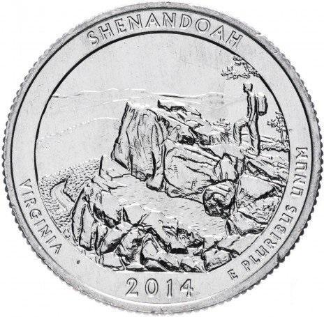 25 центов квотер США Вирджиния