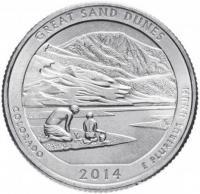 25 центов квотер США Колорадо