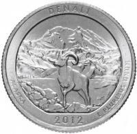 США 25 центов квотер аляска