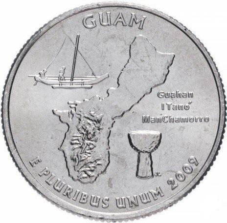 25 центов сша штаты 2009 гуам