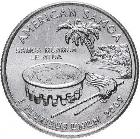 25 центов сша штаты 2009 самоа