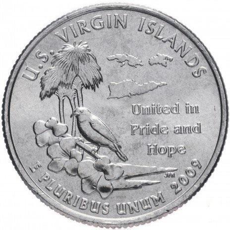 25 центов сша штаты 2009 Виргинские острова