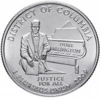 25 центов сша квотер 2009 округ колумбия
