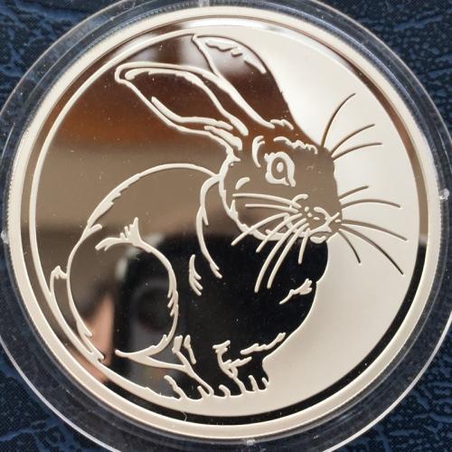 монета год кролика