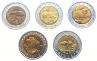 Красная Книга Набор 1994 года (5 монет)