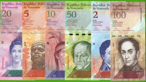 наборы банкнот венесуэлы