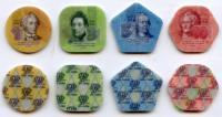 Приднестровье Набор Пластиковых Монет 4 штуки