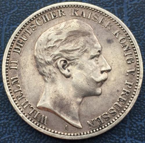 3 марки 1908 Вильгельм