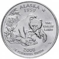 25 центов 2008 Аляска
