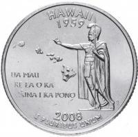 25 центов 2008 Гавайи