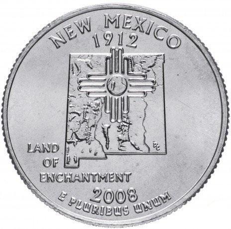 25 центов 2008 Нью Мехико