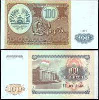 100 рублей таджикистан