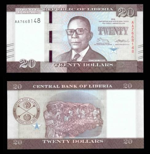 Либерия 20 долларов
