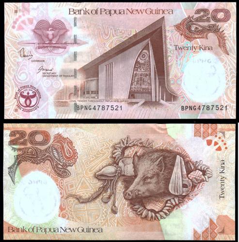 Папуа-Новая Гвинея 20 кина 2008 года