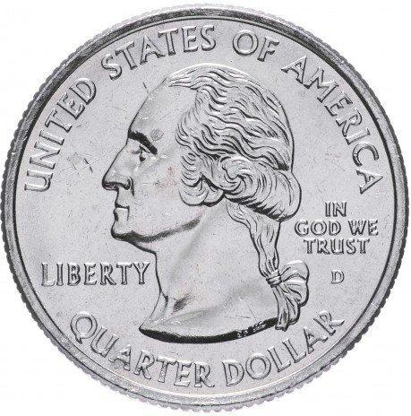 США 25 центов (квотер) 2007 Вашингтон
