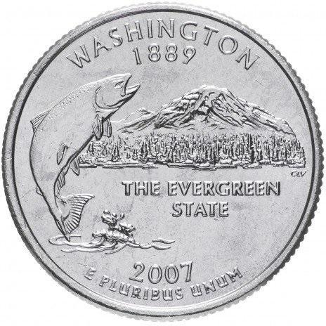 25 центов вашингтон