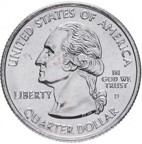США 25 центов (квотер) 2007 Юта