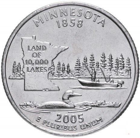 25 центов квотер Миннесота