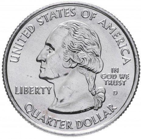 США 25 центов (квотер) 2004 Мичиган