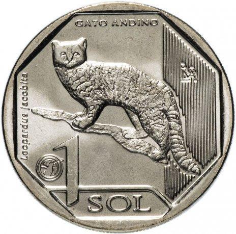 Перу 1 Соль Кошка