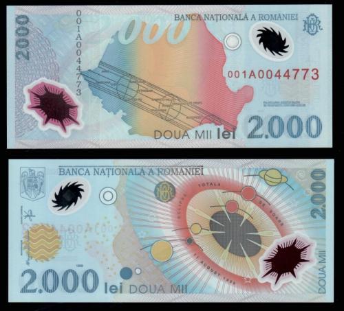 банкноты румынии 2000 лей