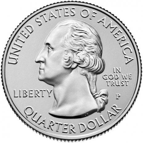 США 25 центов (квотер) 2019 Сан-Антонио (49-й парк)