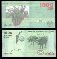 банкноты бурунди