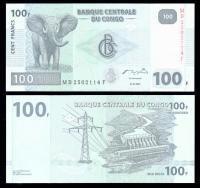 конго 100 франков