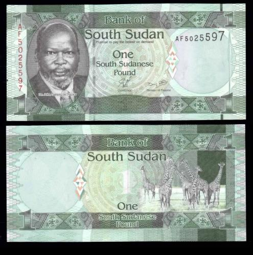 южный судан 1 фунт