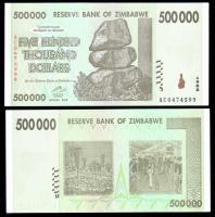 зимбабве 500000 долларов