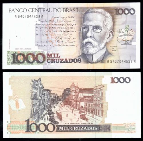 Бразилия 1000 крузадо 1990