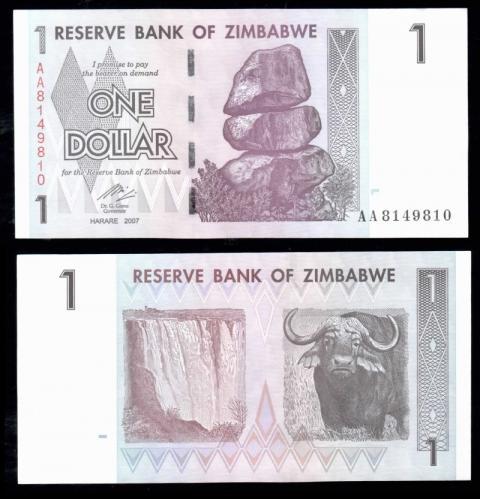 Зимбабве 1 доллар 2007 года