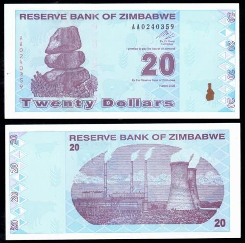 Зимбабве 20 долларов