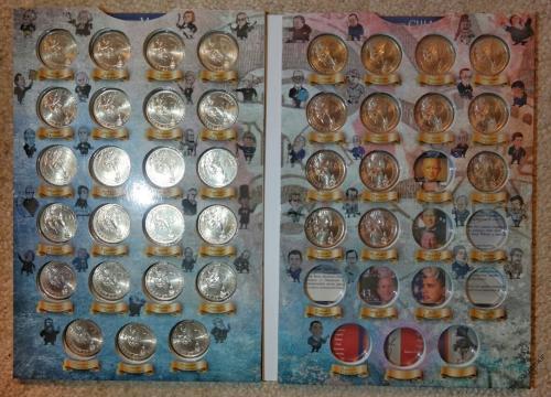 Альбом для монет Президенты США Капсульный