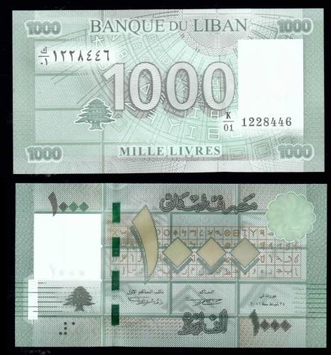 Ливан 1000 ливров 2011 года