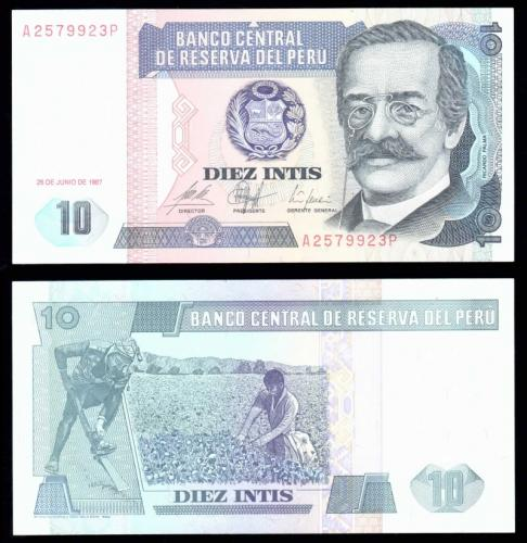 Перу 10 инти 1987