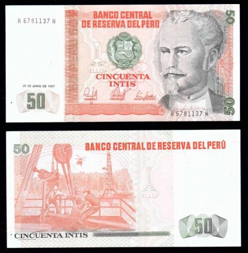 Перу 50 инти 1987 года