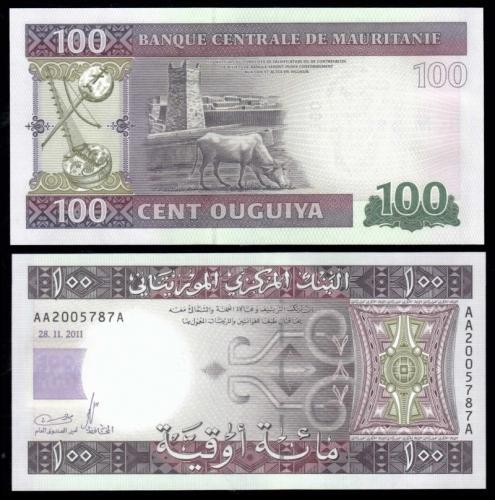 Мавритания 100 угий 2011 года